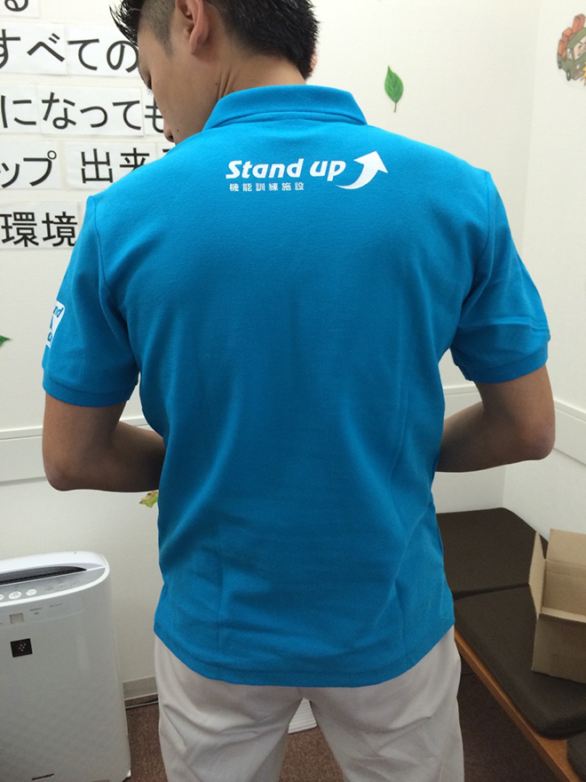stand-upポロシャツimage